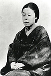 Undated - Kido Matsuko (1843-1886) was wife of Takayoshi Kido (Kogoro Katsura). She was the geisha of Gion and she saved Kido's life when he had to flee Kyoto after the unsuccessful attempt at Hamahuri Gate. (Photo by Kingendai Photo Library/AFLO)