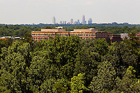 The Ballantyne Corporate Park in Charlotte, NC. Ballantyne, a suburb of Charlotte NC, is located near the South Carolina border. The 2,000-acre mixed-use development was created by land developer Howard C. Smokey Bissell.