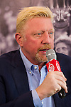 Tennis Legend Boris Becker gives a press conference at Mission Hills Resort on 19 March 2016, in Shenzhen, China. Photo by Lucas Schifres / Power Sport Images