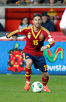 Spain's Sergio Ramos during international match of the qualifiers for the FIFA World Cup Brazil 2014.March 22,2013.(ALTERPHOTOS/Victor Blanco)