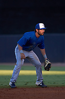 Dunedin Blue Jays second baseman Davis Schneider (7) during a game against the Tampa Tarpons on May 7, 2021 at George M. Steinbrenner Field in Tampa, Florida.  (Mike Janes/Four Seam Images)