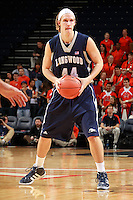 CHARLOTTESVILLE, VA- December 3: Jeff Havenstein #44 of the Longwood Lancers handles the ball during the game on December 27, 2011 against the Virginia Cavaliers at the John Paul Jones Arena in Charlottesville, Virginia. Virginia defeated Longwood 86-53. (Photo by Andrew Shurtleff/Getty Images) *** Local Caption *** Jeff Havenstein