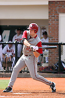 Josh Lyon #21 of the University of Indiana Hoosiers at bat during a game against the Virginia Tech Hokies at Watson Stadium at Vrooman Field in Conway, South Carolina on February 18, 2011. Photo by Robert Gurganus/Four Seam Images