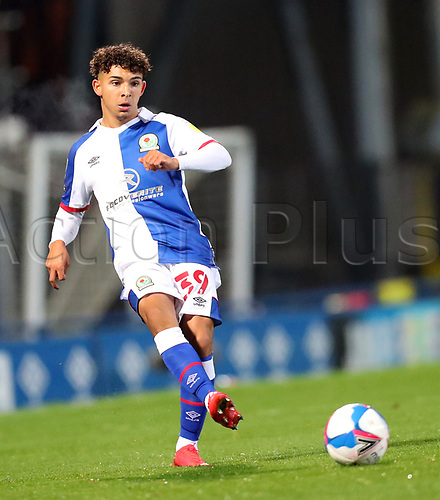 3rd November 2020; Ewood Park, Blackburn, Lancashire, England; English Football League Championship Football, Blackburn Rovers versus Middlesbrough; Corry Evans of Blackburn Rovers passes the ball
