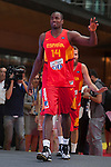Ibaka during the official presentation of Spain´s basketball team for the 2014 Spain Basketball Championship in Madrid, Spain. July 24, 2014. (ALTERPHOTOS/Victor Blanco)