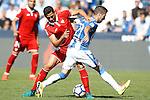 CD Leganes' Ruben Perez (r) and Sevilla FC's Paulo Henrique Ganso during La Liga match. October 15,2016. (ALTERPHOTOS/Acero)