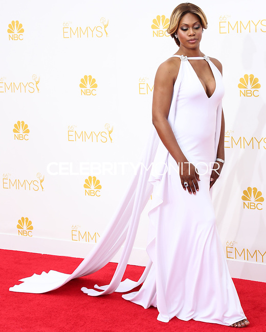 LOS ANGELES, CA, USA - AUGUST 25: Actress Laverne Cox arrives at the 66th Annual Primetime Emmy Awards held at Nokia Theatre L.A. Live on August 25, 2014 in Los Angeles, California, United States. (Photo by Celebrity Monitor)