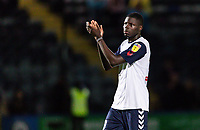 Bolton Wanderers' Yoan Zouma applauds the travelling fans at the end of the match<br /> <br /> Photographer Andrew Kearns/CameraSport<br /> <br /> The Carabao Cup First Round - Rochdale v Bolton Wanderers - Tuesday 13th August 2019 - Spotland Stadium - Rochdale<br />  <br /> World Copyright © 2019 CameraSport. All rights reserved. 43 Linden Ave. Countesthorpe. Leicester. England. LE8 5PG - Tel: +44 (0) 116 277 4147 - admin@camerasport.com - www.camerasport.com