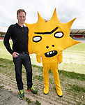 Partick Thistle launch new sponsor, Califonia based Kingsford Capital Management and new mascot Kingsley designed by artist David Shrigley.