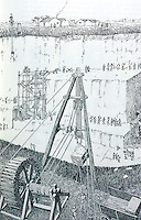 Roman Technology:  Roman crane at a limestone quarry.  Macauley, CITY.