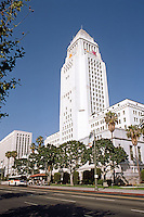 "Los Angeles: Los Angeles City Hall, 1926-28. Austin, Parkinson, Martin; Whittlesey. (""Highly influenced by Bertram Goodhue's Nebraska Capitol""."