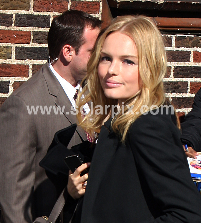 **ALL ROUND PICTURES FROM SOLARPIX.COM**.**SYNDICATION RIGHTS FOR UK, SPAIN, PORTUGAL, AUSTRALIA, S.AFRICA & DUBAI (U.A.E) ONLY**.Kate Bosworth arrives to appear on The Late Show with David Letterman at the Ed Sullivan Theatre, New York City, NY, USA. 25th March 2008..JOB REF: 6014 PHZ/Janet Mayer   DATE: 25_03_2008.**MUST CREDIT SOLARPIX.COM OR DOUBLE FEE WILL BE CHARGED* *UNDER NO CIRCUMSTANCES IS THIS IMAGE TO BE REPRODUCED FOR ANY ONLINE EDITION WITHOUT PRIOR PERMISSION*
