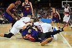 League ACB-ENDESA 201/2019.Game 38.<br /> PlayOff Semifinals.1st match.<br /> FC Barcelona Lassa vs Tecnyconta Zaragoza: 101-59.
