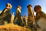 "Peri Bacalari or ""Fairy Chimneys"" tufa formations, Cappadocia, Turkey"