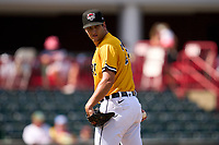 Erie SeaWolves pitcher A.J. Ladwig (23) during a game against the Harrisburg Senators on September 5, 2021 at UPMC Park in Erie, Pennsylvania.  (Mike Janes/Four Seam Images)