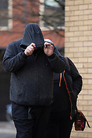 Pictured: Marshall Hayes arrives at Cardiff Magistrates Court, Cardiff, Wales, UK. Thursday 10 January 2018