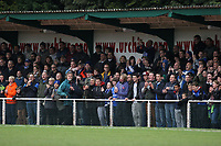 A large crowd of travelling fans - AFC Hornchurch vs Billericay Town - Ryman League Premier Division Football at The Stadium, Upminster Bridge, Essex - 09/04/12 - MANDATORY CREDIT: Gavin Ellis/TGSPHOTO - Self billing applies where appropriate - 0845 094 6026 - contact@tgsphoto.co.uk - NO UNPAID USE