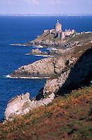 Europe/France/Bretagne/22/Côtes d'Armor/Cap Fréhel: Le fort la Latte et la lande de bruyère