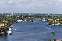 Ft. Lauderdale, Florida. Water Taxi in the Intracoastal waterway.