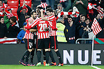 Athletic de Bilbao's Mikel Balenziaga, Inaki Williams, Aritz Aduriz and Mikel San Jose celebrate goal during Spanish Kings Cup match. January 05,2017. (ALTERPHOTOS/Acero)