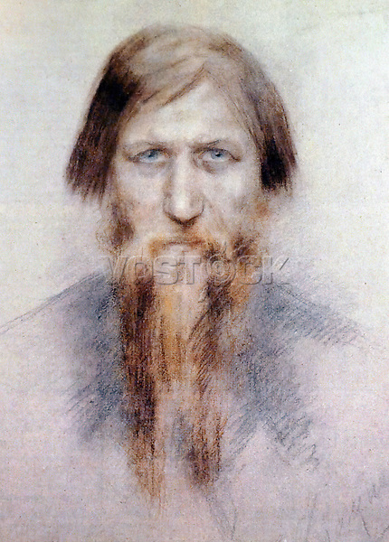 KHW5FN Portrait of Grigori Rasputin (1869-1916) a Russian mystic and self-proclaimed holy man. Dated 20th Century