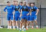 St Johnstone Training…31.07.19<br />Richard Foster, Liam Craig and Michael O'Halloran pictured during training ahead of Saturday's opening game of the season at Celtic Park.<br />Picture by Graeme Hart.<br />Copyright Perthshire Picture Agency<br />Tel: 01738 623350  Mobile: 07990 594431
