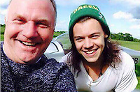 Pictured: Nick Jefferies (L) with Harry Styles from One Direction taken from open social media page.<br />