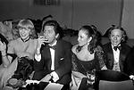 BETTINA GRAZIANI CON VALENTINO GARAVANI<br /> PREMIO THE BEST RAINBOW ROOM ROCKFELLER CENTER NEW YORK 1982