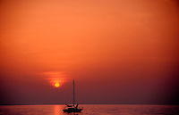 Sunset sailboat.