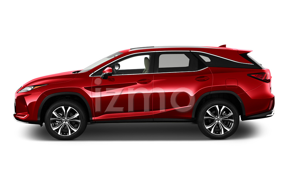 Car Driver side profile view of a 2021 Lexus RX 350L 5 Door SUV Side View