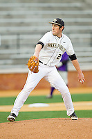 Wake Forest Demon Deacons starting pitcher Matt Conway (25) in action against the Western Carolina Catamounts at Wake Forest Baseball Park on March 26, 2013 in Winston-Salem, North Carolina.  The Demon Deacons defeated the Catamounts 3-1.  (Brian Westerholt/Four Seam Images)
