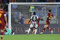 23rd September 2021;  Stadio Olimpicom, Roma, Italy; Serie A League Football, Roma versus Udinese; Roma manage to clear their 6-yard box as the ball gets past the keeper