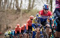 Fabio Jakobsen (NED/Deceuninck - QuickStep) coming up the Côte du Trieu<br /> <br /> 72nd Kuurne-Brussel-Kuurne 2020 (1.Pro)<br /> Kuurne to Kuurne (BEL): 201km<br /> <br /> ©kramon