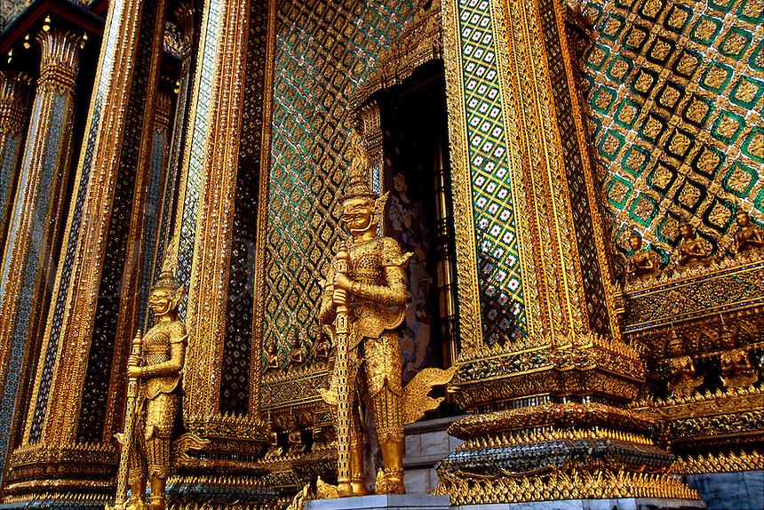 Mondop Library at Wat Phra Kaew next to the Grand Palace Bangkok Thailand