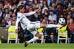 Raphael Varane of Real Madrid in action during the UEFA Champions League 2017-18 match between Real Madrid and Tottenham Hotspur FC at Estadio Santiago Bernabeu on 17 October 2017 in Madrid, Spain. Photo by Diego Gonzalez / Power Sport Images