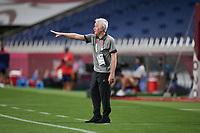 SAITAMA, JAPAN - JULY 24: Head coach of New Zealand Tom Sermanni during a game between New Zealand and USWNT at Saitama Stadium on July 24, 2021 in Saitama, Japan.