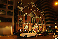 WASHINGTON, D.C. - JANUARY 4: Exterior view of The Metropolitan African Methodist Episcopal Church in Washington, D.C., currently under police watch after the Historic Black Church filed a lawsuit against the Proud Boys after burning the church's Black Lives Matter banner in a December riot. January 4, 2021. <br /> CAP/MPI34<br /> ©MPI34/Capital Pictures