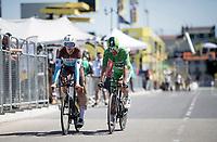 Green Jersey Peter Sagan (SVK/Bora-Hansgrohe) & Oliver Naesen (BEL/AG2R-La Mondiale) rolling in together<br /> <br /> Stage 13 (ITT): Pau to Pau(27km)<br /> 106th Tour de France 2019 (2.UWT)<br /> <br /> ©kramon