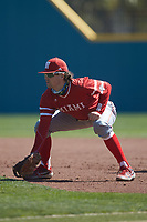 Miami Redhawks first baseman Michael Morissette (17) on defense against the Connecticut Huskies at Springs Brooks Stadium on March 5, 2021 in Conway, South Carolina. The Huskies defeated the Redhawks 5-0. (Brian Westerholt/Four Seam Images)