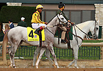 """October 07, 2018 : #4 Nitrous and jockey Ricardo Santana Jr. in the 1st running of The Indian Summer $200,000 """"Win and You're In Breeders' CupJuvenile Turf Sprint Division"""" for trainer Mark Casse and owner John Oxley  at Keeneland Race Course on October 07, 2018 in Lexington, KY.  Candice Chavez/ESW/CSM"""