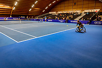 Alphen aan den Rijn, Netherlands, December 22, 2019, TV Nieuwe Sloot,  NK Tennis, Final wheelchair:  Marjolein Buis (NED) and Jiske Griffioen (NED) (R) warming up<br /> Photo: www.tennisimages.com/Henk Koster