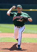 April 21, 2005:  Pitcher Steve Watkins of the Buffalo Bisons during a game at Dunn Tire Park in Buffalo, NY.  Buffalo is the International League Triple-A affiliate of the Cleveland Indians.  Photo by:  Mike Janes/Four Seam Images