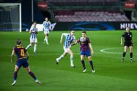6th January 2021; Camp Nou, Barcelona, Spain. La Liga Womens league football FC Barcelona versus Rcd Espanyol; Patri Guijarro controls the ball before laying off for team mate Leon during the Liga Iberdrola match