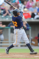 Montgomery Biscuits Tim Beckham #22 swings at a pitch during a game against  the Tennessee Smokies at Smokies Park in Kodak,  Tennessee;  April 13, 2011.  Tennessee defeated Montgomery 12-2.  Photo By Tony Farlow/Four Seam Images