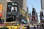 Tyler Pugh graces a Times Square billboard.