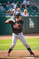 Tyler Stephenson (53) of the Billings Mustangs at bat against the Ogden Raptors in Pioneer League action at Lindquist Field on August 16, 2015 in Ogden, Utah.Billings defeated Ogden 6-3.  (Stephen Smith/Four Seam Images)