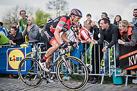 Greg Van Avermaet (BEL/BMC) up the Paterberg for a last time<br /> <br /> 101th Ronde Van Vlaanderen 2017 (1.UWT)<br /> 1day race: Antwerp › Oudenaarde - BEL (260km)