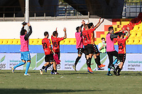 Benevento FC celebrate at the end of the match<br /> during the Serie A football match between SC Benevento and Bologna FC at stadio Ciro Vigorito in Benevento (Italy), October 04th, 2020. <br /> Photo Cesare Purini / Insidefoto