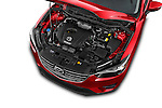 Car Stock 2016 Mazda CX-5 Grand-Touring-auto 5 Door SUV Engine  high angle detail view