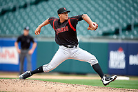 Indianapolis Indians pitcher Luis Escobar (16) during an International League game against the Buffalo Bisons on June 20, 2019 at Sahlen Field in Buffalo, New York.  Buffalo defeated Indianapolis 11-8  (Mike Janes/Four Seam Images)